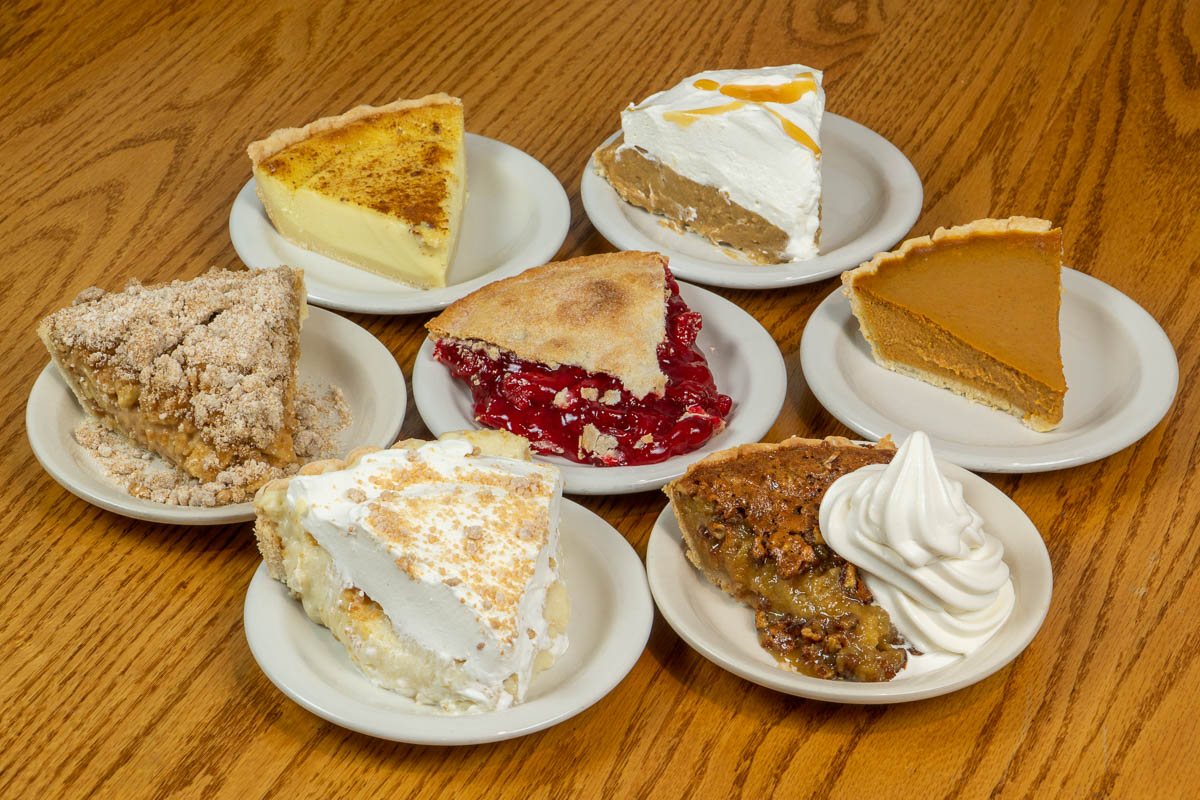 A variety of pies at Tiffany's Restaurant